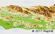 Physical Panoramic Map of Frosinone