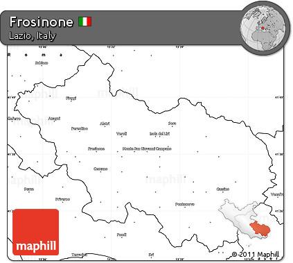 Frosinone Italy Map.Free Blank Simple Map Of Frosinone