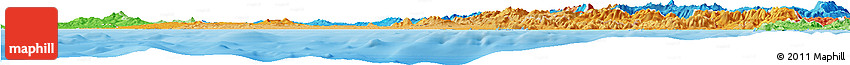 Political Shades Horizon Map of Lazio