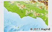 Physical 3D Map of Latina