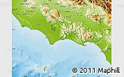 Physical Map of Latina