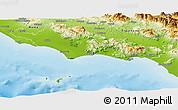 Physical Panoramic Map of Latina