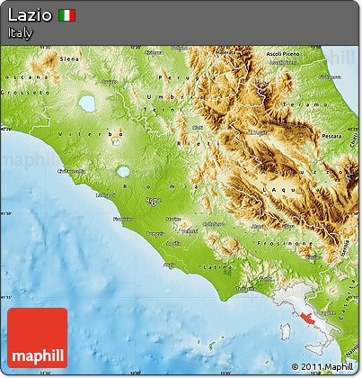 Free Physical Map of Lazio