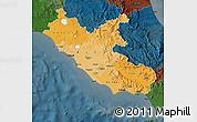 Political Shades Map of Lazio, darken