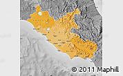 Political Shades Map of Lazio, desaturated