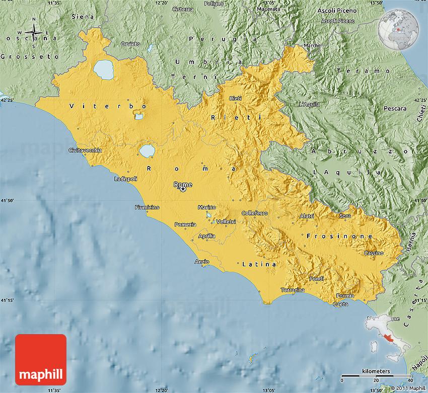 Lazio Region Map : File:Map of municipalities of Lazio ...