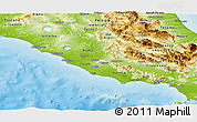 Physical Panoramic Map of Lazio