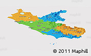 Political Panoramic Map of Lazio, cropped outside