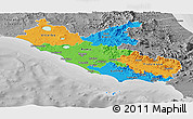 Political Panoramic Map of Lazio, desaturated