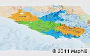Political Panoramic Map of Lazio, lighten