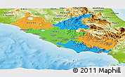 Political Panoramic Map of Lazio, physical outside