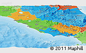 Political Panoramic Map of Lazio, political shades outside