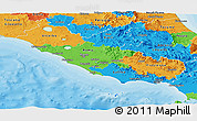 Political Panoramic Map of Lazio