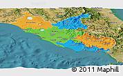 Political Panoramic Map of Lazio, satellite outside