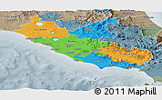 Political Panoramic Map of Lazio, semi-desaturated