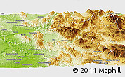 Physical Panoramic Map of Rieti