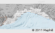 Gray 3D Map of Liguria