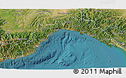 Satellite 3D Map of Liguria