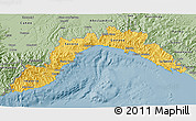 Savanna Style 3D Map of Liguria