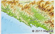Physical 3D Map of La Spezia