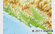 Physical Map of La Spezia