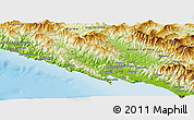 Physical Panoramic Map of La Spezia
