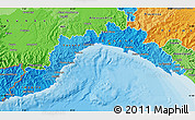 Political Shades Map of Liguria