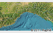 Satellite Map of Liguria
