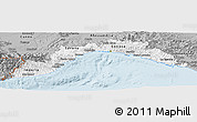Gray Panoramic Map of Liguria