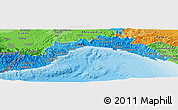 Political Shades Panoramic Map of Liguria