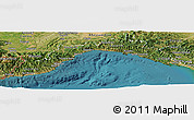 Satellite Panoramic Map of Liguria