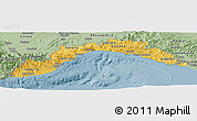 Savanna Style Panoramic Map of Liguria