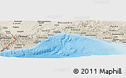 Shaded Relief Panoramic Map of Liguria