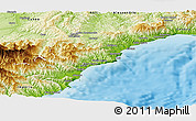 Physical Panoramic Map of Savona