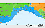 Political Shades Simple Map of Liguria