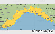 Savanna Style Simple Map of Liguria