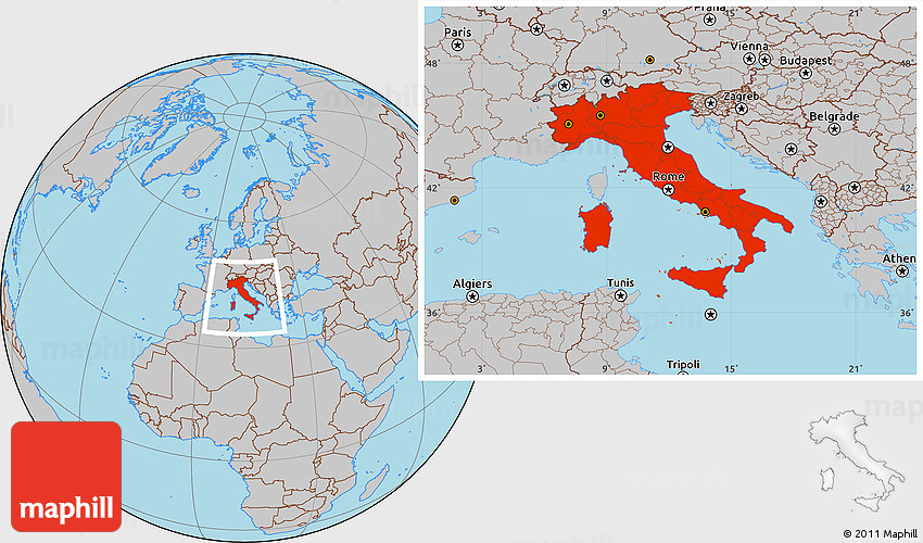 Gray location map of italy gumiabroncs Images