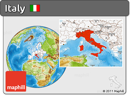 Free physical location map of italy highlighted continent highlighted continent physical location map of italy highlighted continent gumiabroncs Gallery
