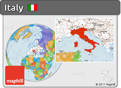 Free political location map of italy highlighted continent highlighted continent political location map of italy highlighted continent gumiabroncs Choice Image