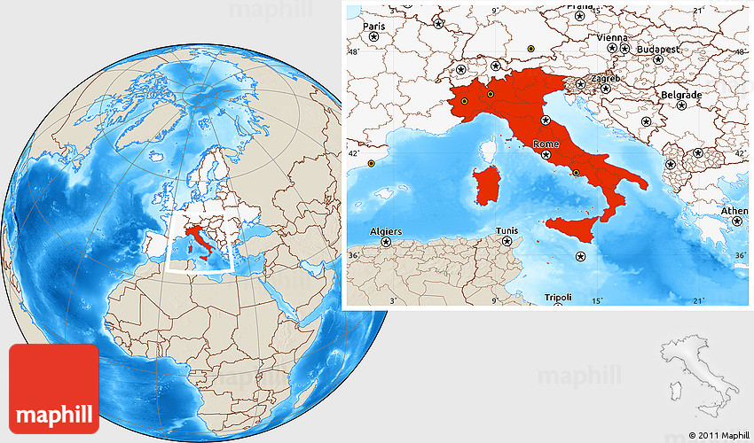 Shaded relief location map of italy highlighted continent gumiabroncs Image collections