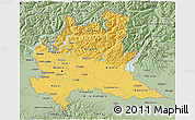 Savanna Style 3D Map of Lombardia