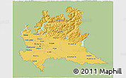 Savanna Style 3D Map of Lombardia, single color outside