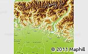 Physical Map of Bergamo
