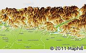 Physical Panoramic Map of Bergamo