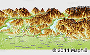 Physical Panoramic Map of Como