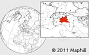 Blank Location Map of Lombardia