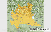 Savanna Style Map of Lombardia