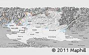 Gray Panoramic Map of Lombardia