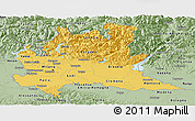 Savanna Style Panoramic Map of Lombardia