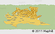 Savanna Style Panoramic Map of Lombardia, single color outside